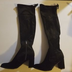 Black Marc Fisher Over the Knee heeled boots